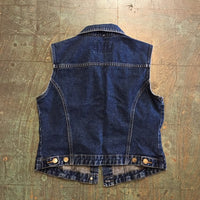 vintage 90s denim vest // size Large