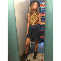 Vintage LEI 90s high waist denim mini skirt size 7