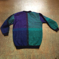 Vintage 80s 90s mohair colorblock pullover sweater tunic