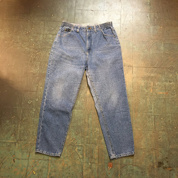Vintage LEE denim trousers // size 14 petite mom Jeans // made in USA
