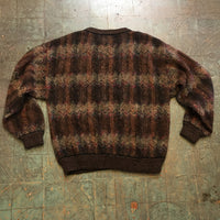 Vintage 80s 90s Wool Blend pullover dad sweater // Size Large