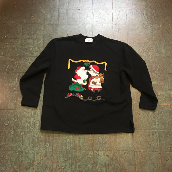 Vintage UGLY XMAS pullover sweatshirt // US Womens petite medium // unisex retro crew neck jumper holiday sweater