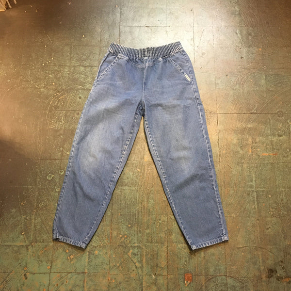 Vintage 80s 90s light wash Denim Republic Jeans // size 14 baggy fit