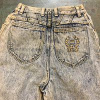 Vintage 80s 90s PS GITANO acid stone wash denim // size 12 baggy fit tapered leg