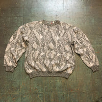 Vintage 80s 90s Made In Italy marled geometric patchwork crew neck sweater