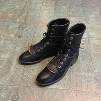 Hey Tiger Vintage 90s Laredo Two Tone leather lace up riding kiltie boots size 7 1/2