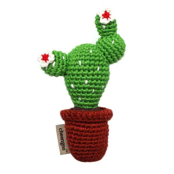 bamboo sustainable crocheted cactus rattle // baby gift // cheengoo san francisco // hey tiger louisville kentucky