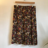 Vintage 90s high waist Button Front floral print midi skirt // size Large // boho hippie festival soft grunge // hey tiger louisville kentucky