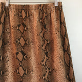 Vintage Handmade 90s high waist Snakeskin print sheath skirt // size small Medium // hey tiger louisville kentucky