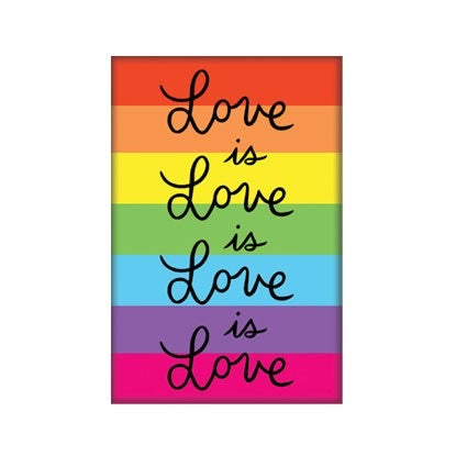 Love is Love is Love Rainbow Fridge Magnet by the found  // made in the USA // Hey Tiger Louisville Kentucky