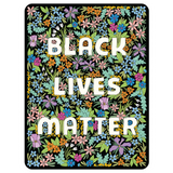 Black Lives Matter Wildflower Floral Vinyl die cut Sticker // dishwasher safe scratch resistant // made in USA // gift under 10 // hey tiger louisville kentucky