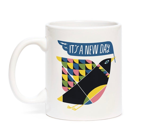 It's a New Day PMA Coffee Mug by Lisa Congdon & Emily McDowell // Hey Tiger Louisville Kentucky