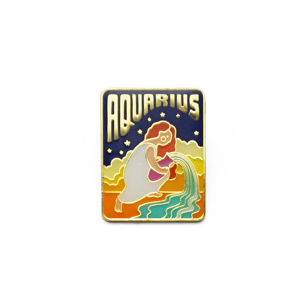Aquarius Enamel Pin by lucky horse press // hey tiger louisville kentucky