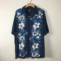 Vintage Unisex 90s Floral Hawaiian Shirt // Size Men's Large // retro summer Beach Style // hey tiger louisville kentucky