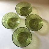Vintage 60s 70s Anchor Hocking Soreno Green Glass Bowls // retro granny boho chic dishes tableware home goods kitchen decor // Hey Tiger Louisville Kentucky