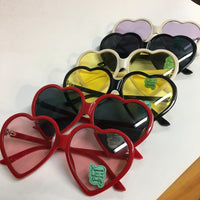 Oversized Heart Shaped Sunnies in various color combinations // summer style festival fashion lolita // hey tiger louisville kentucky