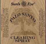 Suns Eye •Palo Santo Clearing Spray•   •Earthy and Potent•   •Traditionally associated with Purification, spiritual Cleansing, and Protection• Hey Tiger Louisville Kentucky