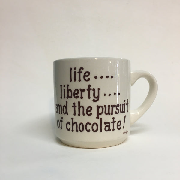 Life Liberty & the Pursuit of Chocolate Vintage Coffee mug // Hey Tiger Louisville Kentucky