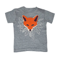 Kid's Fox t-shirt is printed by hand on a high quality, sweatshop-free American Apparel super soft tri-blend tee by Gnome Enterprises // hey tiger louisville kentucky