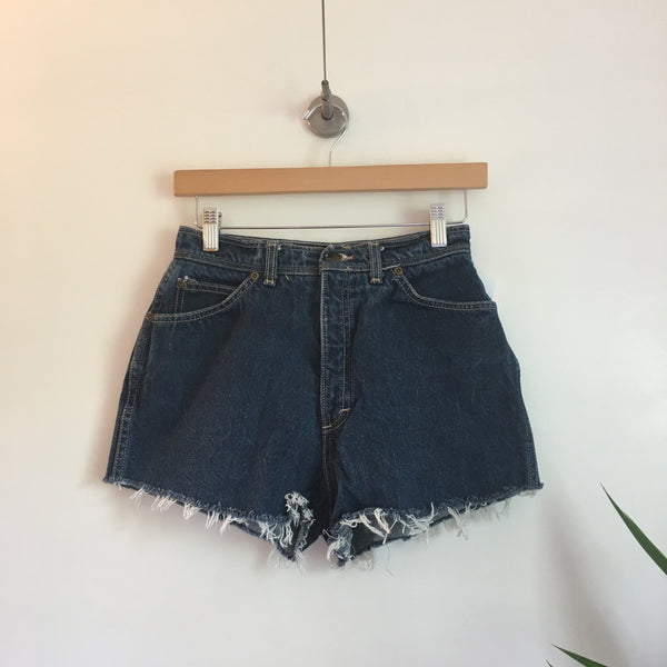 Vintage Oscar De La Renta Ultra high waist denim Cut Off shorts // Size 12 // retro Summer Style // hey tiger louisville kentucky