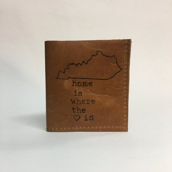 Home is Where the Heart Is Hand Sewn Leather Wallet by In Blue // Hey Tiger Louisville Kentucky
