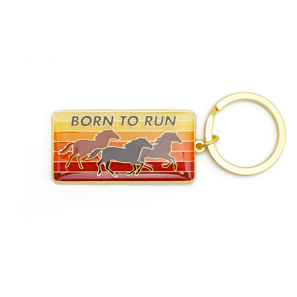 Born to Run Enamel Keychain