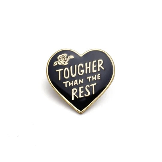Tougher Than the Rest Retro Style Enamel Pin by Lucky Horse Press // Hey tiger Louisville Kentucky
