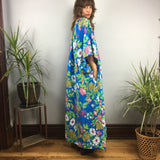 Vintage 60s 70s floral Aloha MuuMuu dress with Pocket // One Size // Moomoo mumu kaftan caftan boho hippie loungewear // hey tiger louisville kentucky