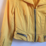 Vintage Entre Deux Modes Worsted Wool Cropped Sunshine Yellow jacket // size 10 // Made in USA // hey tiger louisville kentucky
