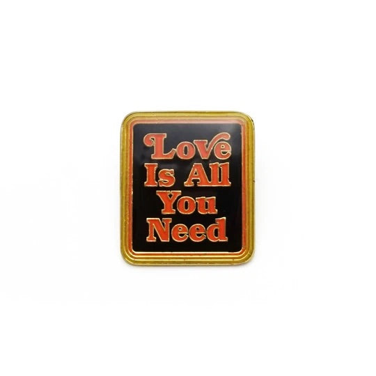Love is All You Need Retro Style Enamel Pin by Lucky Horse Press // Hey Tiger Louisville Kentucky