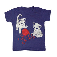 Kid's Kittens t-shirt is printed by hand on a high quality, sweatshop-free super soft tri-blend tee by Gnome Enterprises // hey tiger louisville kentucky