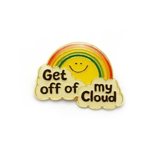 Get Off My Cloud Retro Style Enamel Pin by Lucky Horse Press // Hey Tiger louisville kentucky