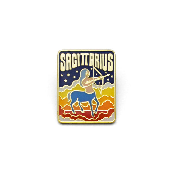Sagittarius Enamel Pin by Lucky Horse Press // hey tiger louisville Kentucky