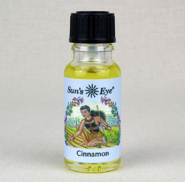 Suns Eye Cinnamon Oil is spicy and earthy and is traditionally associated with attraction, and speed. Hey Tiger Louisville Kentucky