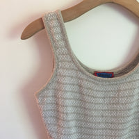 Vintage 90s boxy Chunky Cable Knit sweater Tank Top // retro minimalist spring summer // hey tiger louisville kentucky