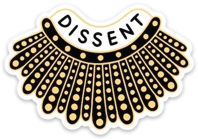 RBG Dissent Collar Vinyl Die Cut Sticker by The Found // Hey Tiger Louisville Kentucky