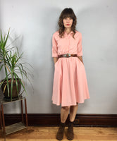 Vintage retro Peachy dress by The American Shirt Dress // size 8 // Made in the USA
