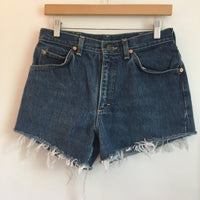 Vintage LEE Riders high waist denim Cut Off shorts // Size 31 Waist // hey tiger louisville kentucky