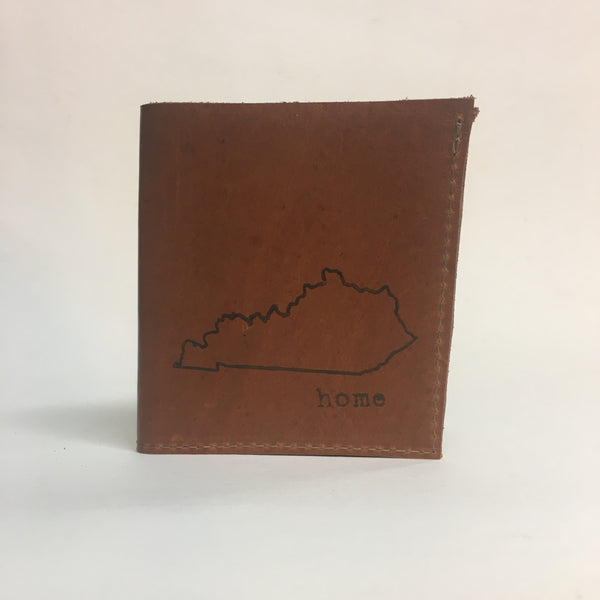 My Old Kentucky Home Hand Sewn Leather Wallet by in blue // hey tiger louisville kentucky