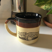 Vintage 1986 Hardee's Rise and Shine Homemade Biscuits Coffee Mug // hey tiger louisville kentucky