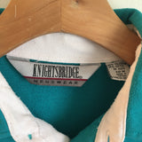Vintage 80s Knightsbridge polo pullover // unisex medium