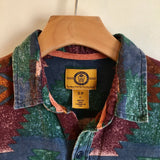 Vintage 80s 90s Stapleford Southwestern long sleeve button up shirt // size small // western boho grunge normcore street style // hey tiger louisville kentucky
