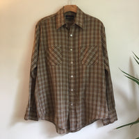 Vintage 1970s 80s Sportswear by Country Touch Plaid Button Up Oxford Shirt // size 15 1/2 // hey tiger louisville kentucky