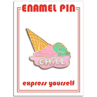 Keep it Chill Ive Cream Cone Enamel Pin by the Found // hey tiger louisville kentucky