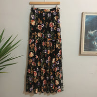 Preloved high waist floral print maxi split skirt // size small // hey tiger louisville kentucky
