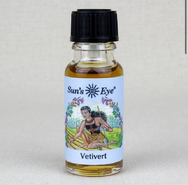 suns eye Vetivert Oil is earthy, woody, and smoky and is traditionally associated with love, luck, and money. Hey Tiger Louisville Kentucky
