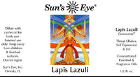 Suns Eye Lapis Lazuli Oil, featuring Lapis Lazuli Chips with sweet top notes in a base of Lilac, is formulated to elevate joy and self expression. Hey Tiger Louisville Kentucky