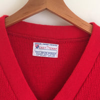 Vintage East-Tenn Varsity V-Neck sweater // official award sweater // red and white athletic preppy retro // hey tiger louisville kentucky