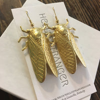 Giant Cicada Earrings // handmade by Hello Stranger // hey tiger louisville kentucky