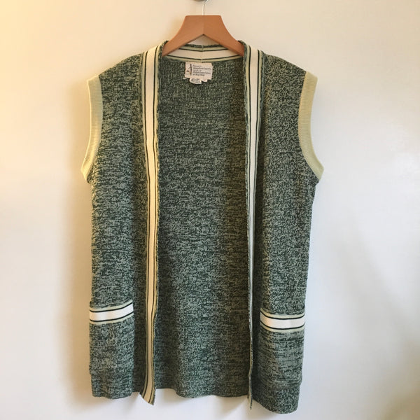Vintage Penney's International Imports Wool Blend Galaxy Knit Sweater Vest waistcoat // Size 10 // retro granny // hey tiger louisville kentucky